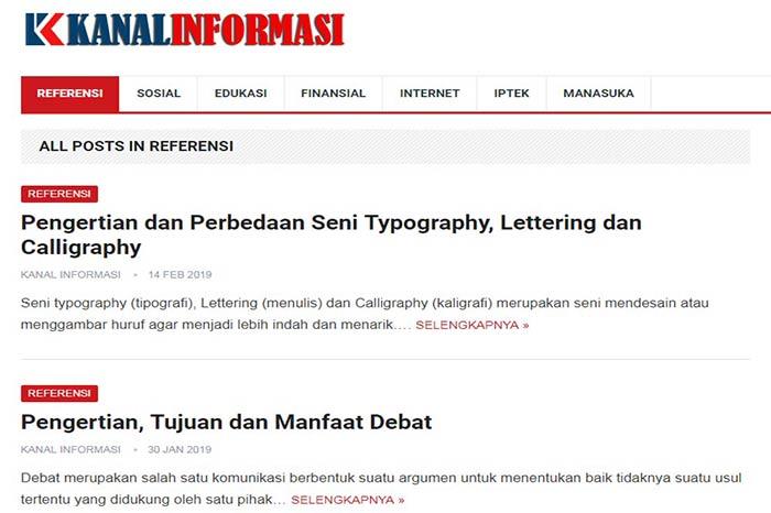 Blog Kanal Informasi