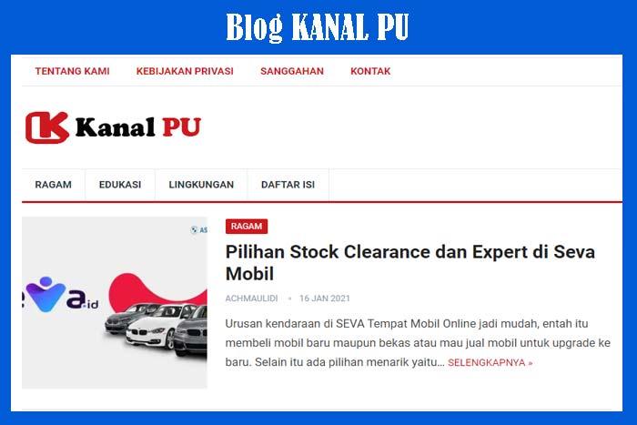 Blog Kanal PU