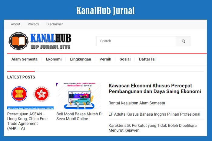 Website KanalHub Jurnal