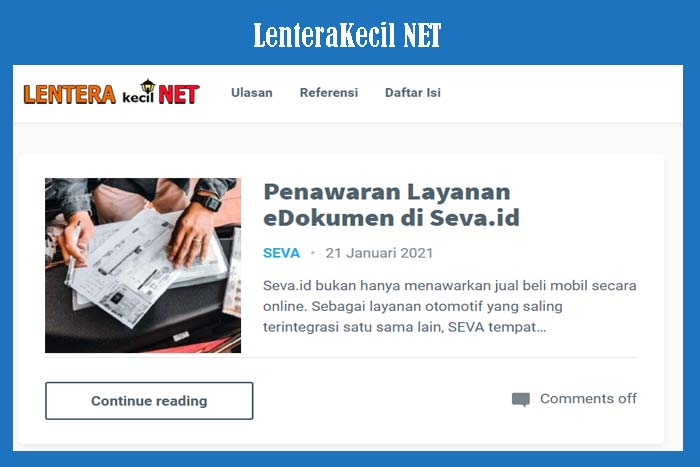 Blog LenteraKecil NET