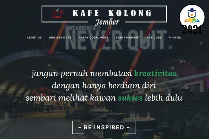 website kafe kolong jember