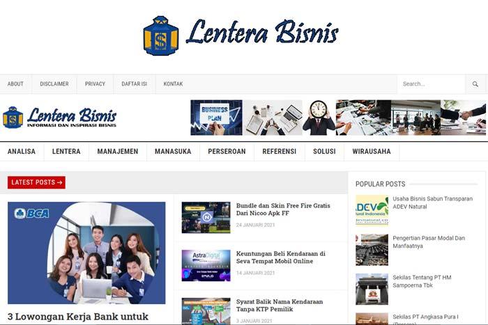 website lentera bisnis