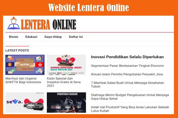 Website Lentera Online