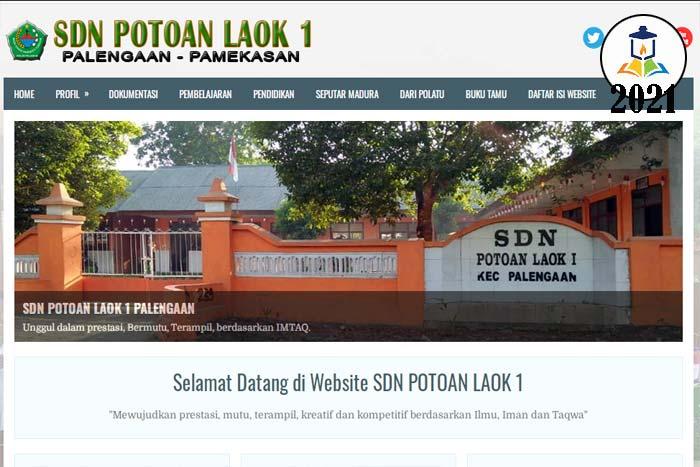 website sdn potoan laok 1 palengaan
